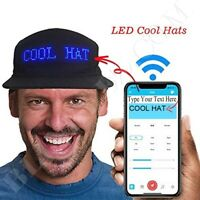 LED Party Message Hat Great for DJ Dancing Advertising Fun Baseball LED Hat