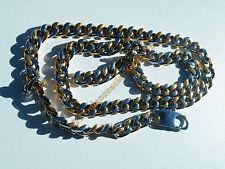 Chaine Longue Pur Acier Inox Argenté Or Gourmette 62 cm