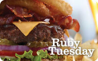 $25 / $50 Ruby Tuesday Gift Card - FREE Mail Delivery