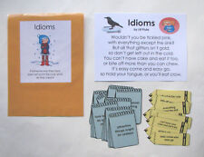 Teacher Made Literacy Center Educational Learning Resource Game Idioms