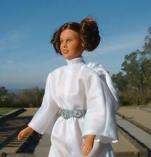 "NICE 12"" Princess Leia Doll Belt, Buns,Socks, Shoes,Dress Vintage 1978 Star Wars"