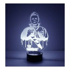 Michael Myers Halloween LED Night Light, with Remote Control, Engraved Light Up