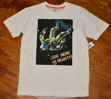 Boy's Old Navy No Gravity White Short Sleeve T-Shirt Tee Top Size 8, 10-12,14-16