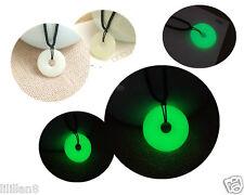 Custom Lettering Luminous Stone Ping Buckle Glow Pendant Necklace Men&Women
