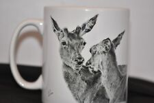 Drinking cup, mug for soup, coffee, tea, and all drinks.  Deer cup