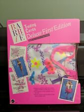 #5111 NRFB Barbie Deluxe Trading Cards First Edition Set Vinyl Case, Binder