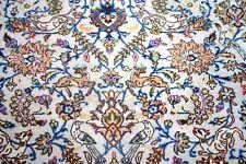 Persian Tabriz soie et laine fait main hand knotted Tapis Animaux Oiseau 240 x 170 cm