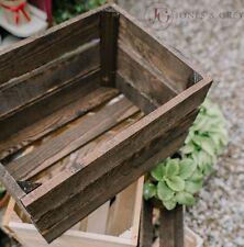 Stile VINTAGE MARRONE scuro Apple cassette da frutta da giardino in legno ingiustificata modestia BOX FIORIERA VASO