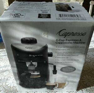Capresso 4 Cup Espresso And Cappuccino Machine Model 303 Black NOB