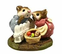 """RETIRED Wee Forest Folk 1985 M-130 """"Mouse Talk"""" With Box Collectible"""