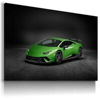LAMBORGHINI HURACAN GREEN Cars Wall Art Canvas Picture AU497 MATAGA