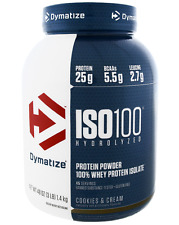 NEW DYMATIZE NUTRITION ISO100 HYDROLYZED 100% WHEY PROTEIN ISOLATE 3 lbs 1,346 g