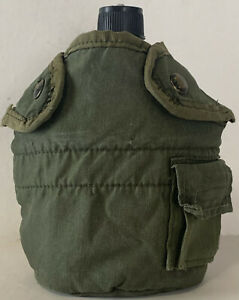 G.I.Style 1qt. Stainless Steel Canteen with G.I. Issue Olive Drab Canteen Cover