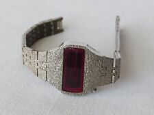Vintage 60s Electronic RED LED LADIES Watch Space Age Retro Bracelet Design