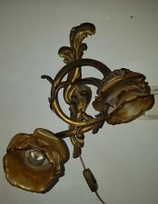 Antique Brass Wall Sconce Light Glass Shades