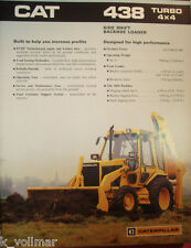 ✪altes original Prospekt sales Brochure CAT Caterpillar 438 Turbo 4 X 4 Loader