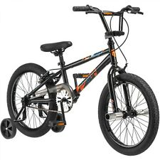 "18"" Mongoose Switch Boys' Freestyle Bike Black Steel Handlebars padded Seat"