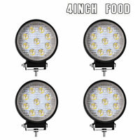 4x4inch  Round LED pod Work Light Bar flood Offroad Truck 27W Fog Driving lamps