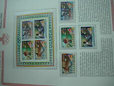 Aus Abo - Olympische Spiele 1980 1 Block + SAtz 4 werte xx  UGANDA sport moskau