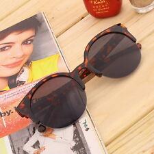 S#NEW Retro Black Lens Vintage Men Women Round Frame Sunglasses Glasses Py