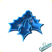 Cuticuter Mistletoe Cookie cutter Blue Muerdago Cortador de galletas 8x7x1,5