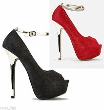 Mid Heel (1.5-3 in.) Party Unbranded Slim Shoes for Women