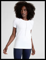 Athleta NWT Women's Foothill/ Hydrogen Tee Color White