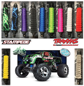 *FITS*Traxxas 1/10 RC Stampede Shock Covers Wraps Dust Sox Spring Sleeves
