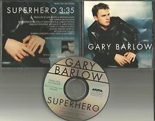 Take That GARY BARLOW  Superhero 1 TRK USA PROMO Radio DJ CD single 1998 MINT