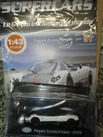 PAGANI ZONDA CINQUE  2009  SUPERCARS GT COLLECTION #51 1:43 DIE-CAST MIB