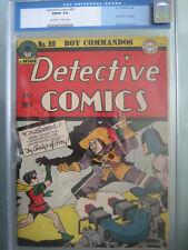 Detective Comics #89 CGC 7.0 1944 Last Crimson Avenger - Rare