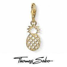 Genuine Thomas Sabo club silver 925 gold plated pineapple bracelet charm