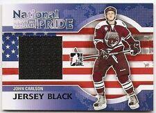 10/11 ITG HEROES & PROSPECTS NATIONAL PRIDE JERSEY BLACK #NATP5 John Carlson /80