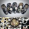 3D Nail Art DIY Steampunk Geal Decoration Alloy Pearl Jewelry Wheel 200pcs