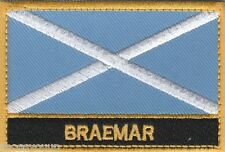 Braemar Scotland Town & City Embroidered Sew on Patch Badge