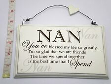 Blessed Nan Wall Plaque Sign Mothers Day Gift Ideas for her, Grandparents F0847A