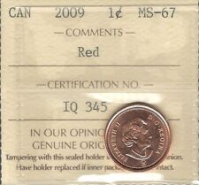 2009 MAGNETIC Small Cent ICCS Graded MS-67 RED GEM++ ** SENSATIONAL QEII Penny
