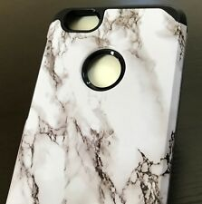 ZTE WARP 8 / BLADE FORCE (N9517) - Hard Hybrid Armor Case White Marble Patterns
