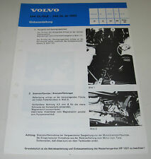 Einbauanleitung Volvo 244 GL GLE 245 Heizgerät Brennstoffpumpe Stand 02/1983!