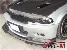 2001-2006 BMW E46 M3 Only 2Dr A Style Carbon Fiber CF Front Bumper Lip 3 Pcs