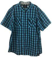 Quilted Giraffe Men's Button Down Short Sleeve Shirt Size XXL