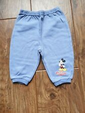 Branded Disney Ladybird (Woolworths) Blue Mickey Mouse Trousers (3 - 6 mths) VGC