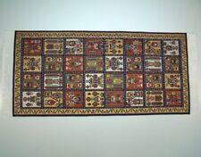 Orientalische Teppich, reine Polyester, bunt, für Puppenhaus. 10x23 cm.