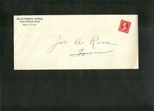 "US ENTIRE Return Add. ""Selectmen's Office, Northfield, MA"" stamp #250 Tri B TyII"