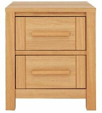 Home Mawsley 2 Drawer Bedside Chest - Oak Veneer