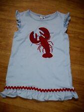 The Bailey Boys Sz. 5 Blue Lobster Dress w/Ruffle-Ric Rac-App & Emb.   VGC