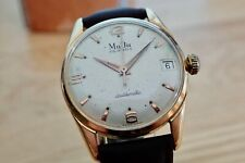 Mens vintage AUTOMATIC Swiss watch MUDU DOUBLEMATIC 25J SERVICED CA58 FELSA 4002