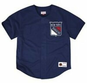 Mitchell & Ness New York Rangers NHL Mesh Button Front Jersey