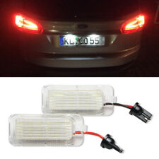 2 Pcs LED Rear Number License Plate Light Lamp For Ford Fiesta Focus Kuga Mondeo