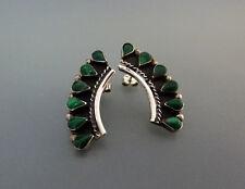 Schöne Vintage Mexiko Taxco Ohrstecker Ohrringe Malachit Handarbeit 925 Silber